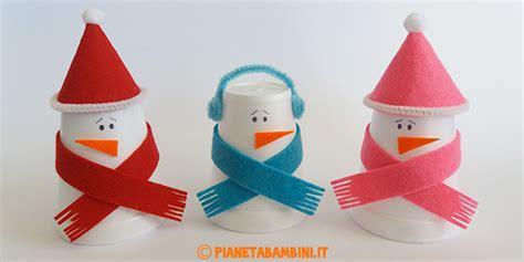 Pupazzi Di Neve Con Bicchieri Di Plastica by 10 Lavoretti Di Natale Con Bicchieri Di Plastica O Carta