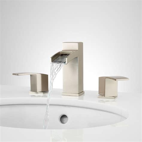 bathroom sink and shower fixtures morata widespread waterfall bathroom faucet bathroom