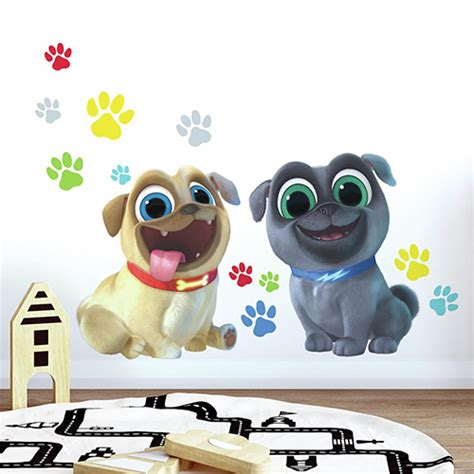 roommates puppy dog pals peel  stick giant wall decals