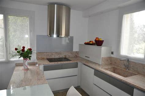 cuisine credence inox cuisine design chène laqué blanc modèle haut de gamme