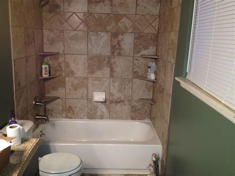 shower tub surround white tile advice