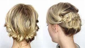 Chignon Cheveux Mi Long : tutoriel coiffure facile cheveux mi longs courts youtube ~ Melissatoandfro.com Idées de Décoration