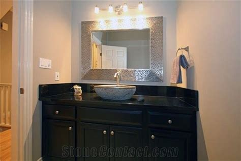 absolute black granite bathroom countertop  canada