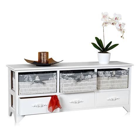 sitzbank mit schubladen kommode sitzbank truhe landhaus schrank mit schubladen regal holzbank sideboard ebay