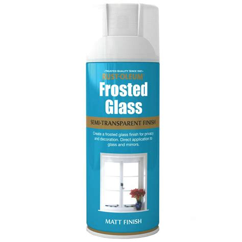 Rustoleum Frosted Window Glass Effect Spray Paint 400ml