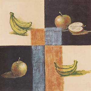 Modern decorative oil painting fruit banana apple canvas