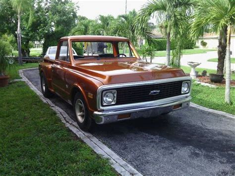 purchase used 1971 chevy c10 short wheel base stepside 396 big block in fort myers florida