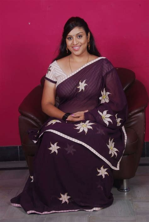 latest  masala uma telugu character artist  saree