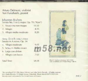 Sonatas Of Brahms And Beach Uff08 U6c60 U5858 U73a9 U800d Uff09 U5c0f U63d0 U7434 U594f U9e23 U66f2  U4ef7 U683c  U56fe U7247 Arturo
