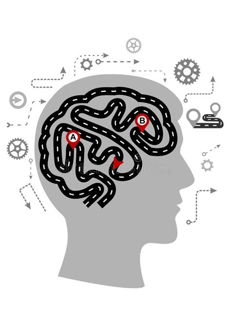 Thought Processes Of A Human Brain Stock Photo - Image of