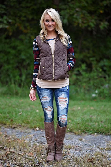 Quilted Vest Brown The Pulse Boutique Cool Clothes