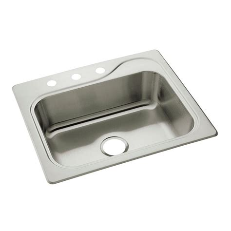 sterling kitchen sink sterling southhaven drop in stainless steel 25 in 3 2512