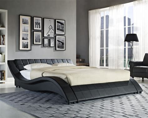 double king size black white bed frame   memory