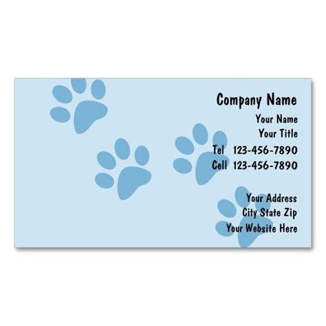 Pet Care Business Cards Gallery - Business Card Template