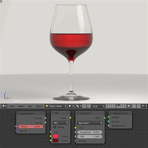 glass cycles blender fluid realistic render node different colors