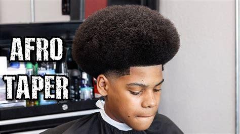 afro shape  taper barber tutorial learn   cut  fro youtube