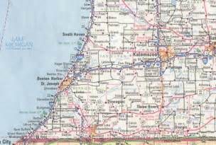 South West Michigan County Map