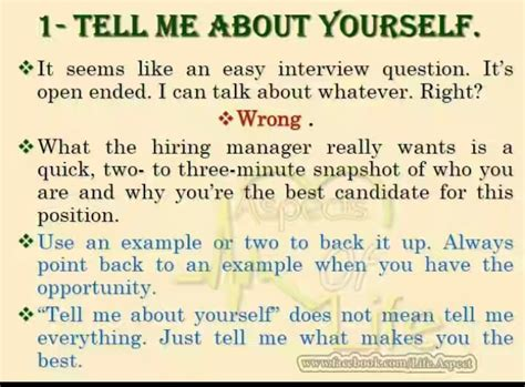 15046 tell me about yourself answer 30 guidelines that will help you ace your next