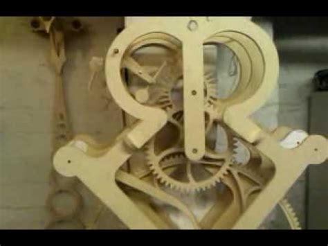 grasshopper escapement wooden gear clock youtube