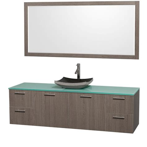 kitchen vanities with sink wyndham collection amare 72 in vanity in grey oak with 6377