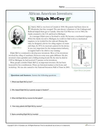 African American History Worksheets Worksheets For All