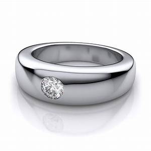 Round cut diamond white gold wedding rings for men ipunya for Mens wedding rings with diamonds white gold