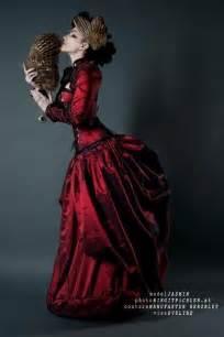Victorian Steampunk Dress Red