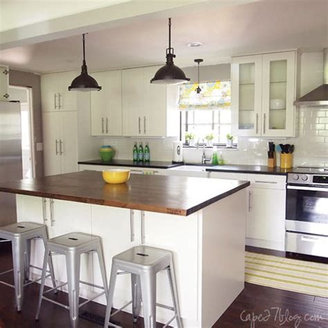 single wall kitchen with island remodelaholic popular kitchen layouts and how to use them 7966