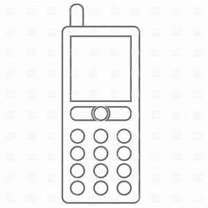 Cell phone mobile phone clipart black and white clipart ...