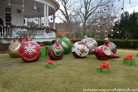 places that sell big christmas lutside balls governor roy and barnes home decorated for