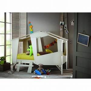 Lit Cabane Garçon : cabane lit enfant 90 x 200 cm taupe beige achat vente structure de lit cabane lit 90 x 200 ~ Teatrodelosmanantiales.com Idées de Décoration