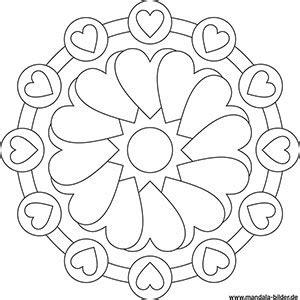 mandala malvorlageben mit symbolen fuer kinder und erwachsene