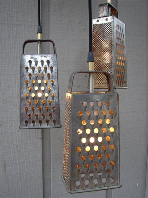 Kitchen Grater Lights cheese grater light trash to treasure recycled kitchen