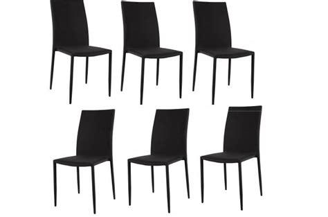 lot de 6 chaises noires lot de 6 chaises empilables noires design chaise pliante