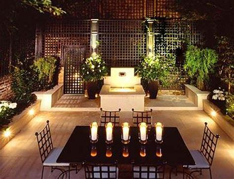 outdoor patio lighting ideas with dining table