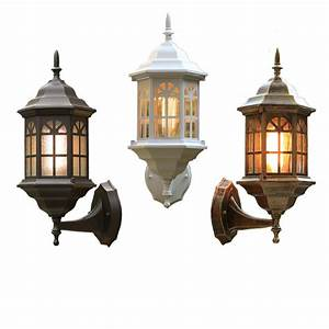 european style waterproof wall lamp retro decorative With outdoor lighting colored lanterns