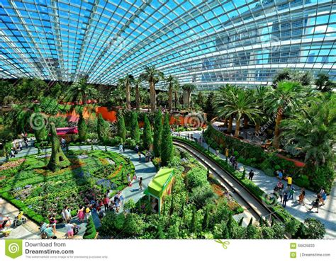 flower dome gardens by the bay singapore editorial stock