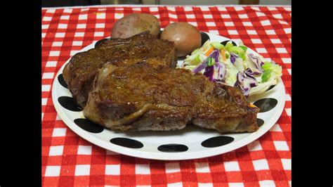 cook  awesome beef rib eye steak   toaster