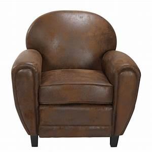 Fauteuil club marron vieilli offrez vous un club a prix for Acheter fauteuil club