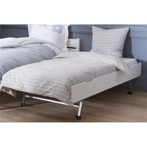 lit gigogne avec bureau tiroir lit gigogne blanc 90x200x29 gigoblcm07