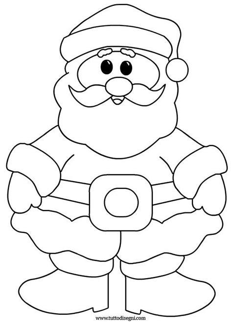 clipart natale da colorare babbo natale disegni da colorare per bambini