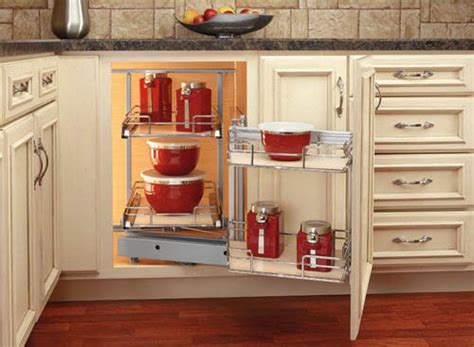 Blind Cabinet Storage Solutions by How To Make Blind Corner Cabinet Space More Useful