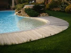 Carrelage Tour De Piscine : plage de piscine immerg e en galets naturels de rivi re ~ Edinachiropracticcenter.com Idées de Décoration
