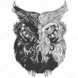 Owl Shadowesd Black — Stock Vector © ARTYuSTUDIO #75565253