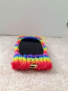 My rainbow loom phone case. ( bottom)   Rainbow loom ...