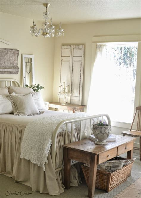 Country Bedroom Decor by Farmhouse Bedroom Salvaged Architectural Pieces And