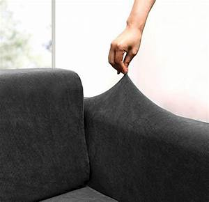 where to check prices 3 piece jacquard stripe fabric solid With couch arm covers grey