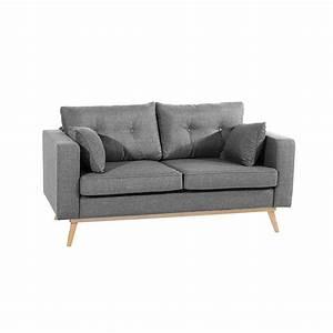 Sofa 2 Sitzer Grau : sofa 2 sitzer tomme 23 flachgewebe leinenoptik farb ~ Markanthonyermac.com Haus und Dekorationen