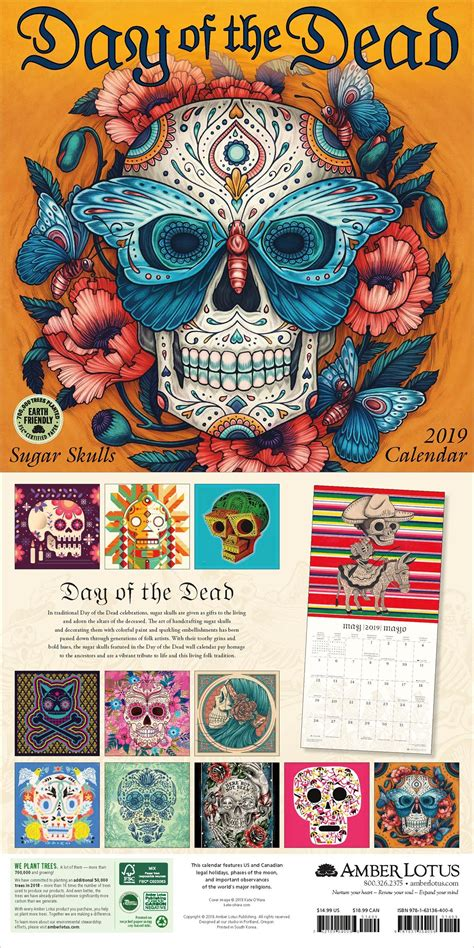 day dead wall calendar wall calendars