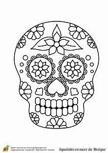 Tete De Mort Mexicaine Dessin : une t te de mort en sucre mexicain tout en fleurs ~ Melissatoandfro.com Idées de Décoration